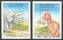 Angola 1998 Mi Blocks 51-52 MNH DINOSAURS - Prehistorics
