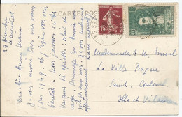 SOLDES - 1938 - N° 189 + 397 Oblitérés (o) Sur Carte LE LAUTARET - Covers & Documents