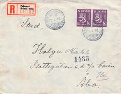 FINLAND : RECO 1946 PALOSAARI BRÄNDÖ > ABO //Q251 - Briefe U. Dokumente