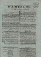 JOURNAL DES DEBATS 16 07 1814 - CORFOU - MADRID - COPENHAGUE - ELSENEUR - MODES - COMTE DE WALTHER - - 1800 - 1849
