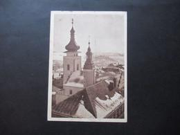 Böhmen Und Mähren 1944 Hitler Nr. 90 (2) MeF Auf AK Jungbunzlau Türme Der Bezirksbehörde - Briefe U. Dokumente