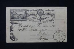 LUXEMBOURG - Carte Par Ballon En 1927 Pour La France ( Affranchissement Disparu ) - L 87477 - Covers & Documents
