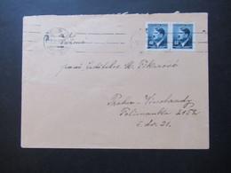 Böhmen Und Mähren 1942 Hitler Nr. 91 (2) MeF Ortsbrief Prag / Praha Vinohrady - Briefe U. Dokumente