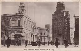 RP: NEW YORK CITY , 1912 ; City Hall & World Building - Otros Monumentos Y Edificios