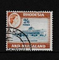 RHODESIA  AND  NYASALAND    1959    2/6  Blue  And  Brown    USED - Rhodesien & Nyasaland (1954-1963)