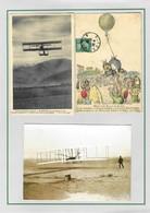 """ALGERIE Cartes Postales """"L'aviation En Algérie"""" + """"Départ D'un Ballon En Ballon En Algérie"""" TB - Storia Postale"""