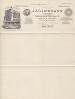J.& G.Lippmann New York Vintage Company Invoice Fruits & Vegetables Merchant - Etats-Unis
