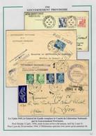 """Algérie Plis Du GPRF, N°198 + 199 CAD """"Gouvernement Provisoire Alger"""", Algérie N°182 OBL Alger R, + Daguin+n° 177 + 181 - Storia Postale"""