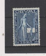 COB 262 Oblitéré Première Orval Cote 3€ - 1929-1941 Gran Montenez