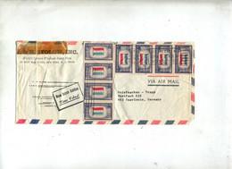 Lettre Flamme New York Sur Drapeau Luxembourg Pays Bas - Postal History