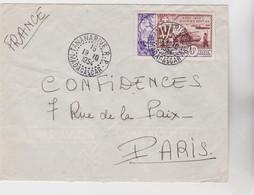 MADAGASCAR - Lettre De 1954 -  1 Timbre 15F Poste Aérienne - Belle Oblitération Double TANANARIVE 18.10.54 Pour PARIS - Briefe U. Dokumente