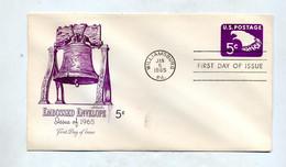 Lettre Entiere 5 C Aigle Fdc 1965  Illustré Cloche - 1961-80