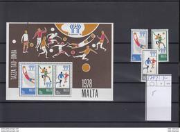 Malta Michel Cat.No.    Mnh/** 571/573 + Sheet 5 Soccer - Malta