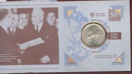 Italia 10000 Lire X 50° Repubblica Italiana Commemorative Italian Silver Coin Set - Commemorative