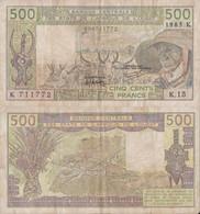 Senegal / 500 Francs / 1985 / P-706K(h) / VF - Senegal