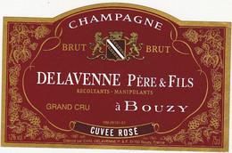 Etiquette Champagne DELAVENNE Père & Fils à Bouzy / CUVEE ROSE - Champagne
