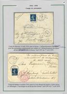 """Lettres AFF France N°140, OBL CAD """"Sebdou Oran"""" Pour L'Allemagne Via La Croix-Rouge De Genève Avec Cachet Rouge.   TB. - Non Classificati"""