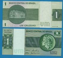 BRASIL 1 CRUZEIRO  ND (1980)  Serie B15674 002096  P# 191Ac - Brazil