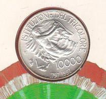 10000 Italia 1977 Repubblica Italiana X 200 Anni Bandiera Tricolore Italian Flag - Commemorative