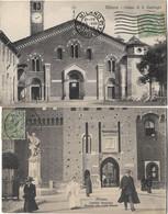 ITALIE MILANO 2 CPA CHIESA S EUTORGIO, CASTELLO SFORZESCO - Milano (Milan)