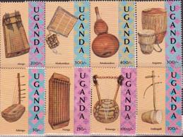 Uganda 1992, Musical Instruments, MNH Stamps Set - Uganda (1962-...)