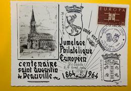 11371 - Carte Jumelage Philatélique Deauville - Biberach 11-12-avril 1964 - Unclassified