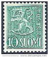 Finland 1954 10mk Groen Leeuwentype M/54 PF-MNH-NEUF - Neufs