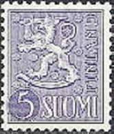 Finland 1954 5mk Violet Leeuwentype M/54 PF-MNH-NEUF - Neufs