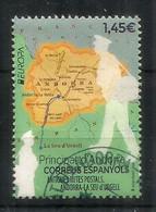 EUROPA 2020.Antiguas Rutas Postales A Andorra, Mapa De Andorra. 1ra Calidad. AND.ESP. - Used Stamps