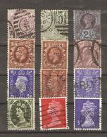 Grande-Bretagne - Perfins - Perforés - Petit Lot De 12° - Victoria - Edouard VII - Georges V - George VI - QEII - Lots & Kiloware (max. 999 Stück)