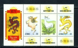 IRELAND  -  2000  Year Of The Dragon  Miniature Shett  Unmounted/Never Hinged Mint - Neufs