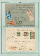 8 Plis D'Algérie / Valeurs à Recouvrer (2), Lettres Chargées (5) Et Carte Postale Avec AFF Mixte Algérie + Espagne TB; - Storia Postale