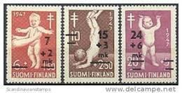 Finland 1948 TBC Overdruk Serie PF-MNH-NEUF - Neufs