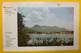11375 - Navigazione Lago Maggiore Tessera De Libera Circolazione Speciale Stresa Isole Baveno Pallanza Intra - Andere