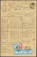 """Algérie Timbre-taxe N°20 + 23, Recouvrements, OBL CAD """"Mondovi Constantine"""" (1932) Sur Bordereau De Valeurs à Recouvrer. - Storia Postale"""