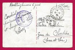 """Écrit Sur Carte Postale Daté De 1923 - Armée Française Du Rhin - Oblitération """"Trésor Et Postes - Secteur Postal 154"""" - Zona Francesa"""