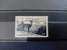 ANDORRE . 1950 .  Poste Aérienne N°1. NEUF Gomme Altérée.  Côte YT 2020 : 62,00 € - Poste Aérienne