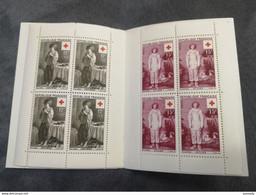 ⭐ Carnet CROIX-ROUGE 1956, Timbres NEUFS** - Excellent État Sans Charnières Le Nain Watteau Louvre ⭐ - Red Cross