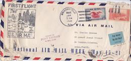 Par AVION - Premier Vol 19 Mai 1938- Brookfield / FRANCE - Storia Postale