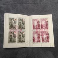 ⭐ Carnet CROIX-ROUGE 1956, Timbres Oblitérés 1er Jour 2 Tampons Signé Excellent État ⭐ Collection Timbre Poste - Croix Rouge