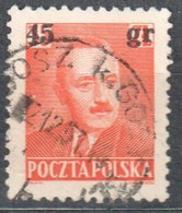 Poland 1951 -  Pres. Boleslaw Bierut - Surcharged - Mi 706 - Used - Used Stamps