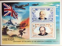 Grenada 1974 Churchill Minisheet MNH - Grenada (1974-...)
