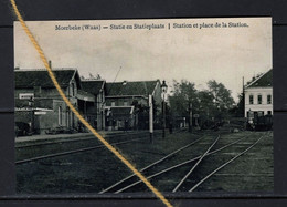 PHOTO MOERBEKE WAAS  OOST VLAANDEREN  STATION STATIE REPRO - Moerbeke-Waas