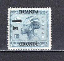 RUANDA-URUNDI   N° 76   NEUF SANS CHARNIERE   COTE 1.00€    OUBANGUI - 1924-44: Mint/hinged