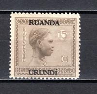 RUANDA-URUNDI   N° 80   NEUF SANS CHARNIERE   COTE 1.25€   BABOUENDE - 1924-44: Neufs