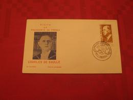 Enveloppe Visite Charles De Gaulle Au Brésil En 1964 - Covers & Documents
