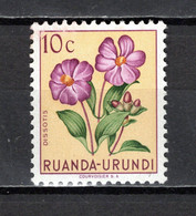 RUANDA-URUNDI   N° 177   NEUF SANS CHARNIERE   COTE 0.15€   FLEUR - 1948-61: Neufs