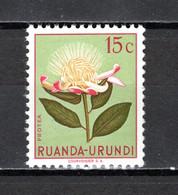 RUANDA-URUNDI   N° 178   NEUF SANS CHARNIERE   COTE 0.15€   FLEUR - 1948-61: Neufs