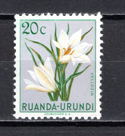 RUANDA-URUNDI   N° 179   NEUF SANS CHARNIERE   COTE 0.15€   FLEUR - 1948-61: Neufs