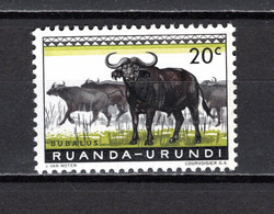 RUANDA-URUNDI   N° 206    NEUF AVEC CHARNIERE   COTE 0.15€    ANIMAUX - 1948-61: Neufs